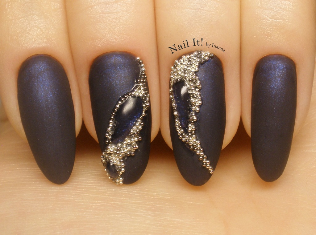 "Jewellery Gemstone Nail Art (with Indigo Nails ""Galactica"" gel polish)"
