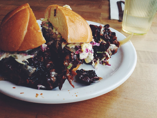 Vegan Pulled Pork from The Butcher's Son (Vegan deli in Berkeley)