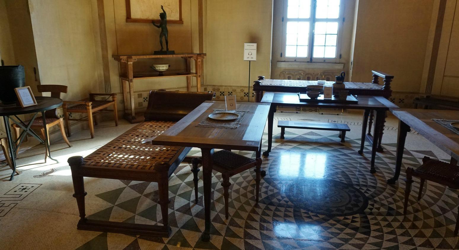 Dining room in Villa Kerylos