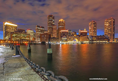 Boston night photo