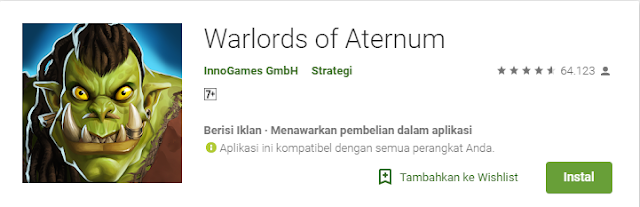 Game Strategi Android Terbaik Warlords of Aternum