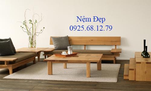 bọc nệm ghế sofa gỗ 016