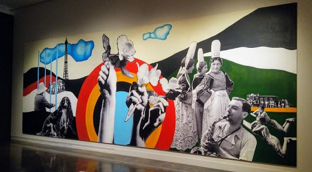 Pintura mural del artista francés Fernand Léger referida a las alegrías esenciales de la vida