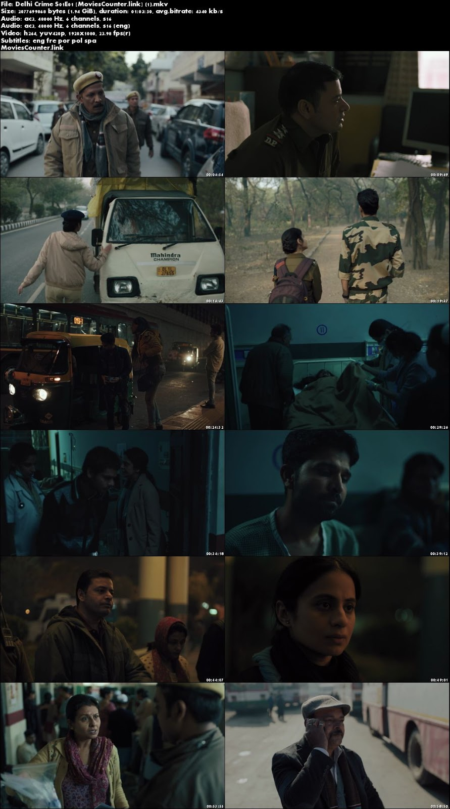 Screen Shots Delhi Crime 2019 Season 1 All Episode 1080p