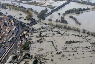 Northern Italy flooded
