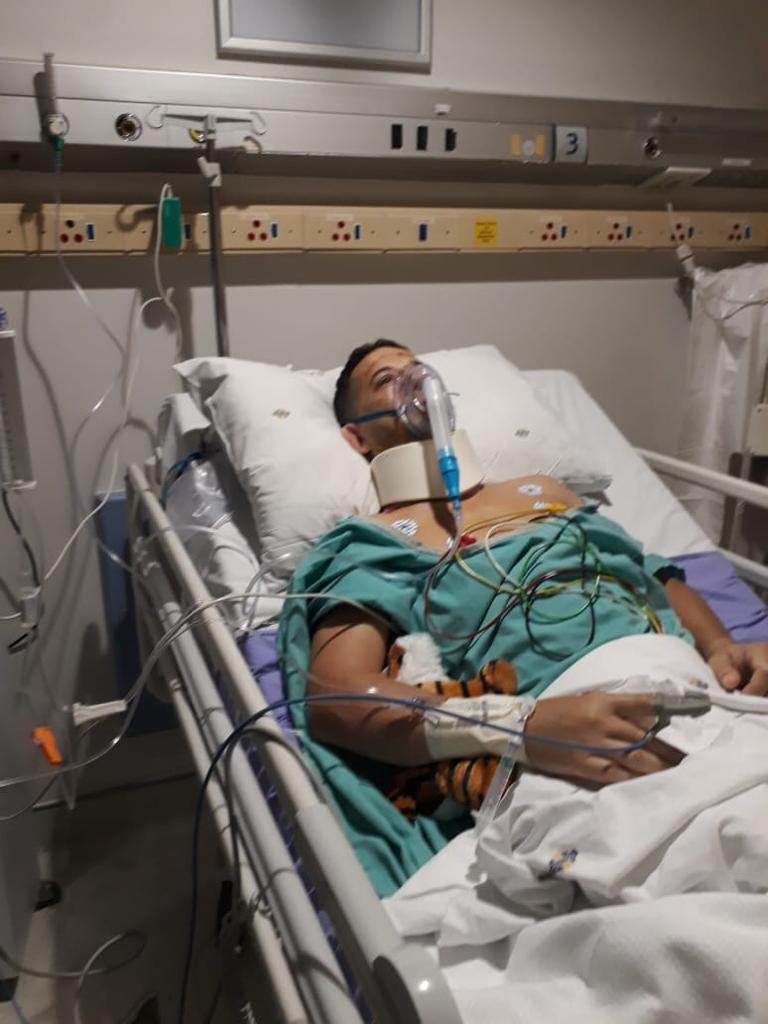 Anthony Delpech in hospital
