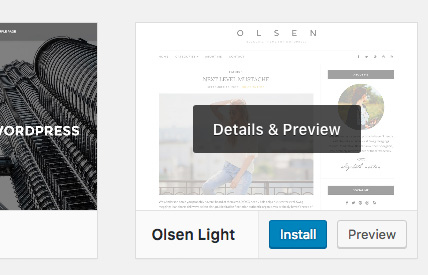 Instal dan Aktifkan Tema WordPress