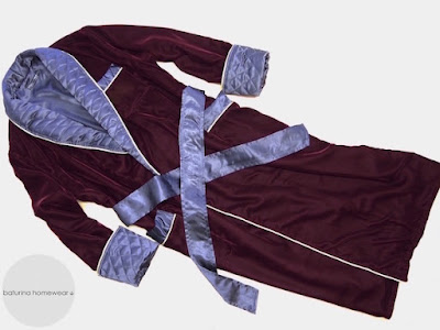 mens burgundy velvet dressing gown traditional english smoking jacket robe