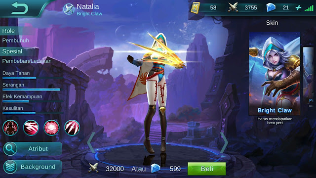 Hero Natalia ( Bright Claw ) High Damage Build/ Set up Gear