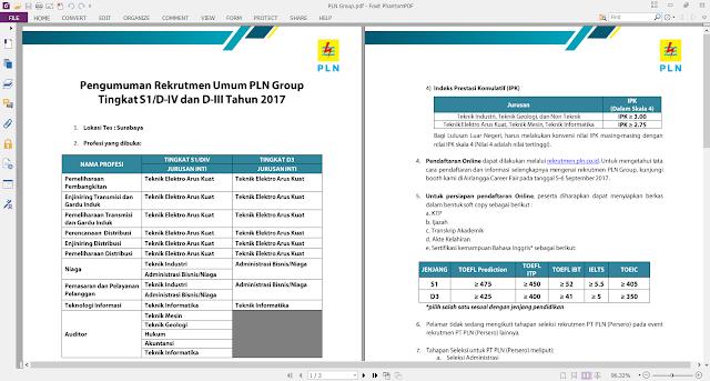 Lowongan Kerja PLN Group Untuk S1/ DIV/ DIII Tahun 2017