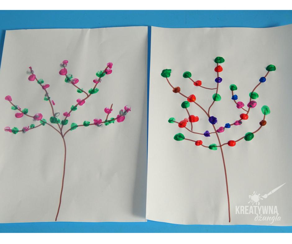 wiosenne drzewo praca plastyczna