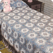 "Sobrecama ""Alhambra"" a Crochet"