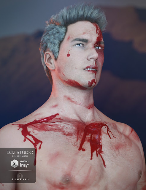 Additional Blood Layers for Genesis 3 Male