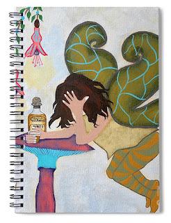 Fairy Nightcap Art Print Spiral Notebook by Jeanne Fry