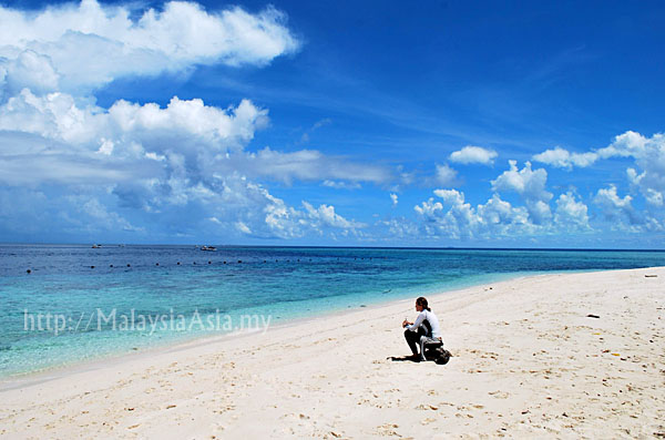 Beach at Sipadan Island