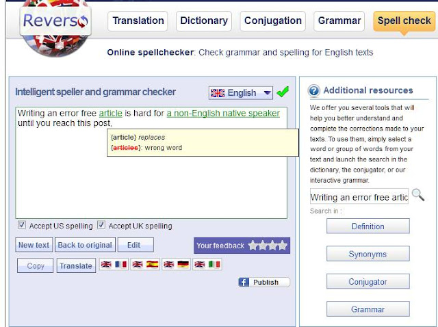 Reverso Grammer Tool For Bloggers Reviews
