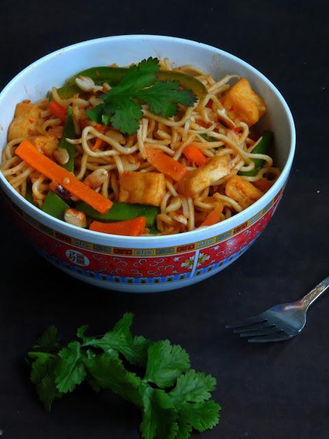 Tofu chowmein