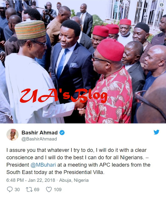 I'll Give My Best To All Nigerians... Here's What Buhari Told South East Leaders In Aso Rock Meeting