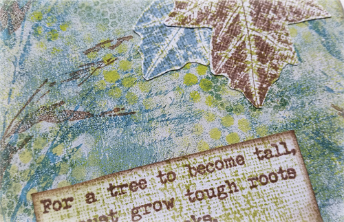 4 inch That's Crafty panels with Alison Bomber stamps and Fresco acrylics - by Nikki Acton