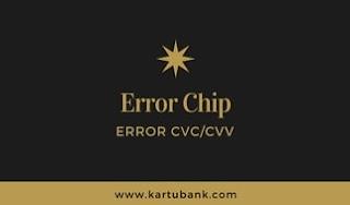Transaksi kartu kredit gagal dengan respon error chip