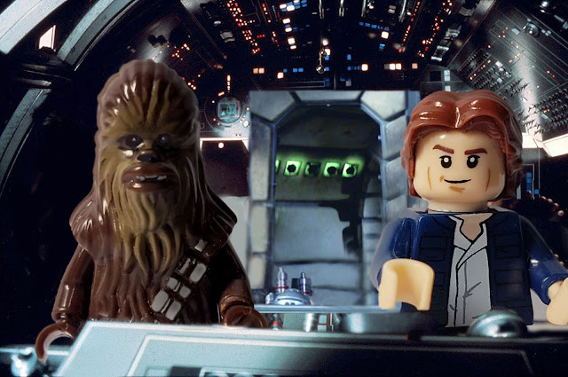 Han Solo and Chewbacca, Millenium Falcon, Star Wars