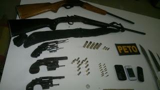 armas dos bandidos