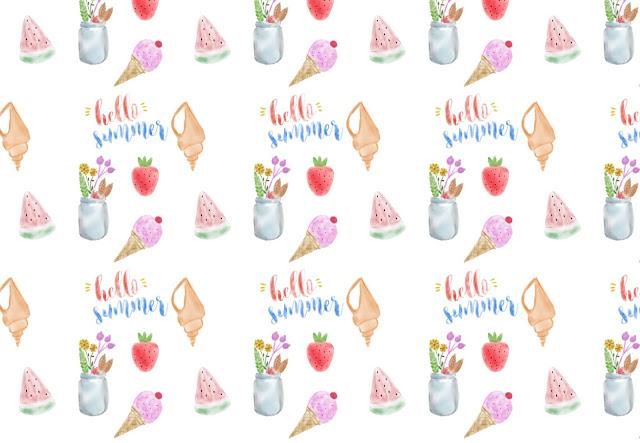 fondos, watercolor, descargar, gratis, imágenes, fresas, summer