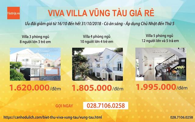 Villa Vũng Tàu cho thuê - Khuyến mãi Viva villa Vũng Tàu
