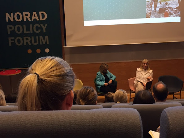 "Crown Princess Mette-Marit attended the Norad Policy Forum, which was titled ""last billions"" of people living in poverty at Norad's new premises in Oslo. Princess wore Valantino dress style, fashion new dress"