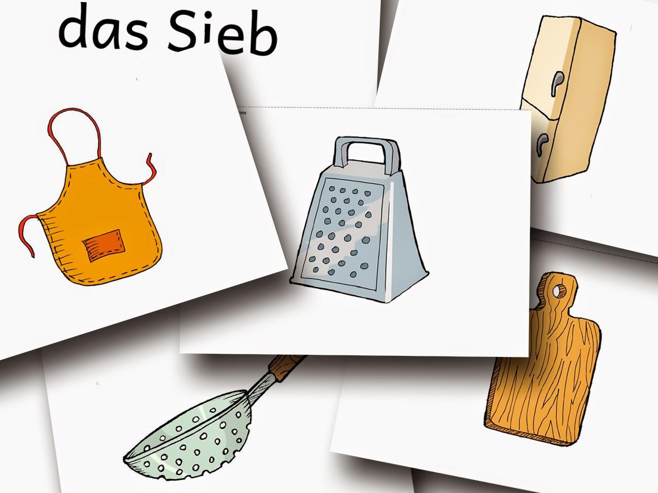 Bildkarten Küche - DaZ Material für die Sprachförderung in der Grundschule