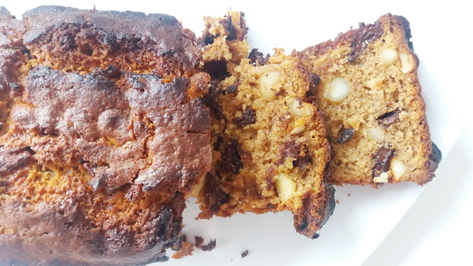 Chocolate and Macadamia Banana Bread