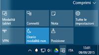 Guida al Centro Notifiche e Azioni rapide di Windows 10