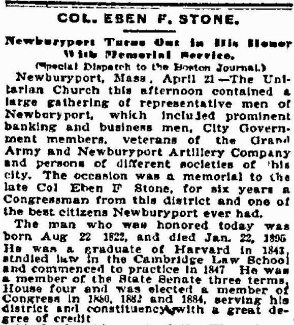 Theraconteuseexpose december 2014 eben f stone mayor of newburyport in 1867 then a state representative and subsequently a congressman 1881 1887vil war stopboris Image collections