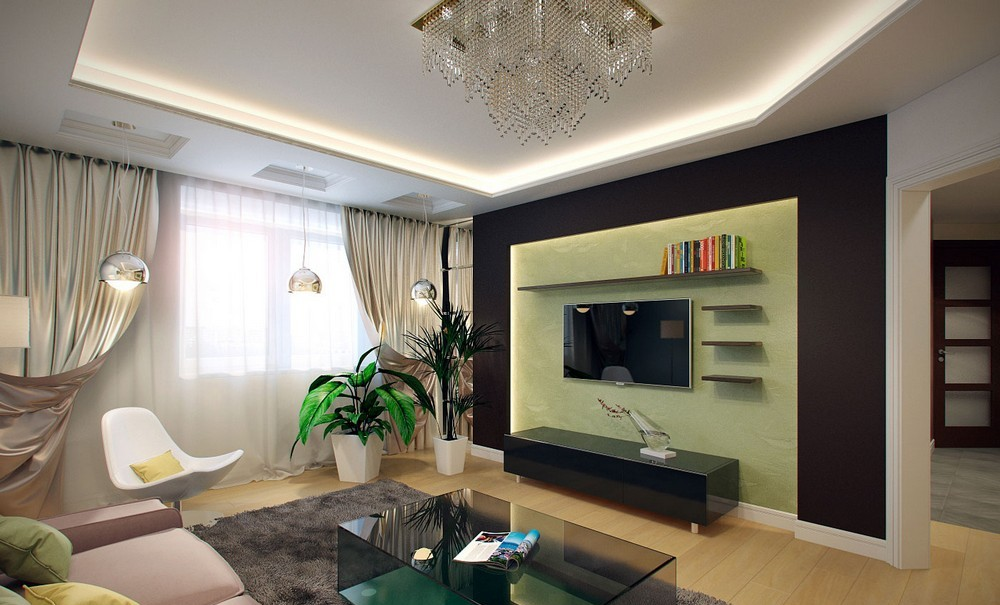 Here are five tips for choosing lighting for your living room. Modern TV Wall Ideas - Home Decor