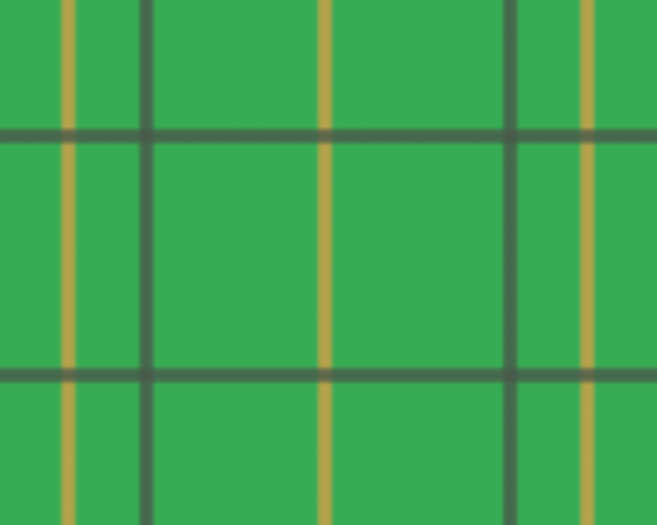 緑の背景に黒の縦横の二本と金の縦の二本の真っ直ぐな線