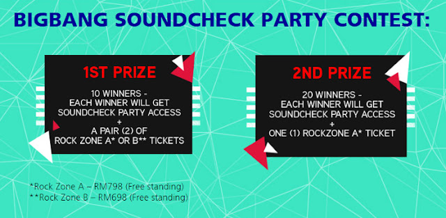 Total 30 BIGBANG Soundcheck Party Access and 40 Rock Zone Tickets to giveaway by Hotlink