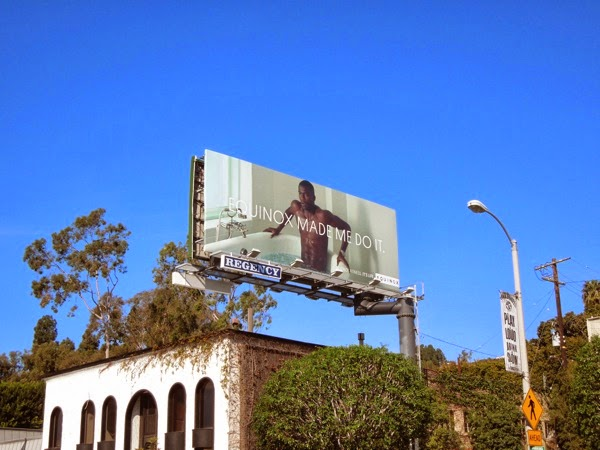 Equinox Made me do it ice bath billboard Sunset Strip