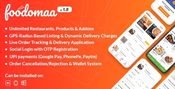 [Free Download] Foodomaa v1.8.1 – Multi-restaurant Food Ordering – Tricky360.in