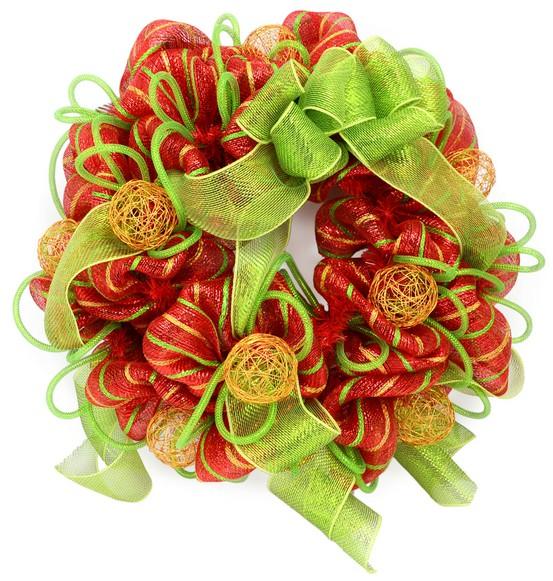 The Sparacino Chronicles: Christmas Deco Mesh Wreath Tutorial