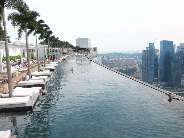 Swimming Pool On Top Of Hotel In Singapore