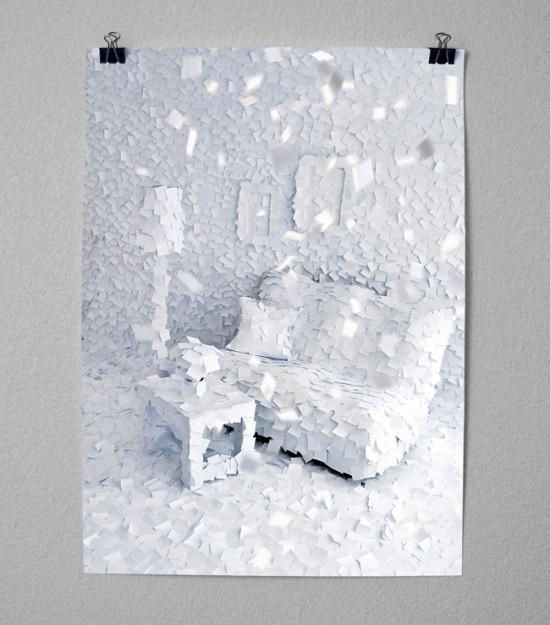 Kunst : Post-it sind doch immer für ein wenig Design gut | Wohnzimmergeschichten – Winter 1972 |  il était une fois ...