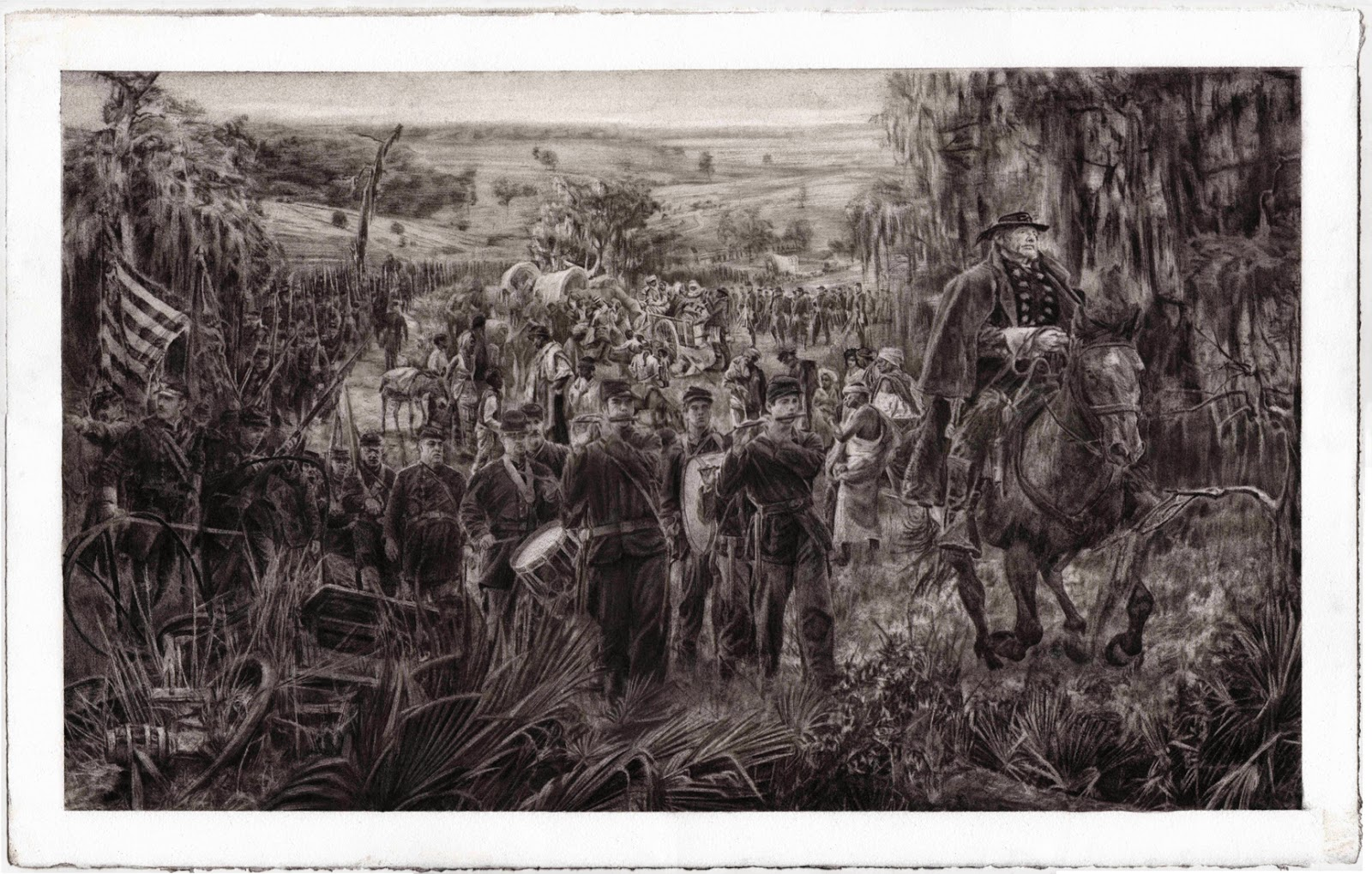 General Sherman's Army Marching to Savannah, Georgia