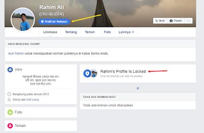 Cara Membuat Profil Facebook Terkunci ( Profile Is Locked )