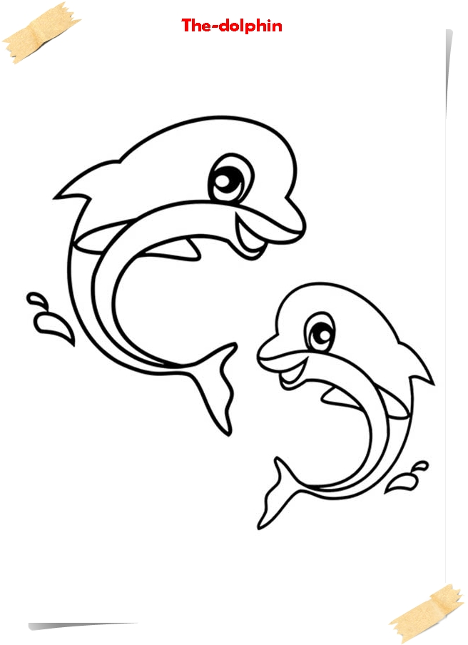Coloring Pages Marine Wild Animals Mother Dolphin With Her Baby ...   904x656