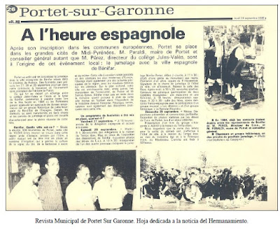 Hermanamiento Portet Sur Garonne & Binéfar