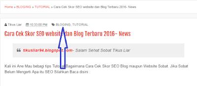 (Tutorial Blog) Cara Pemberian Label pada postingan Artikel di Blogger