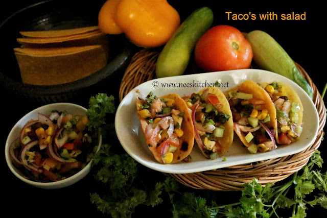 Taco's with salad