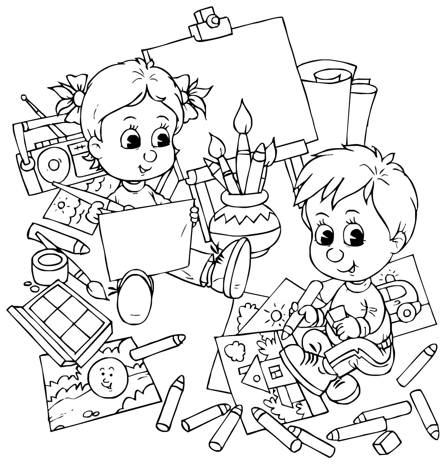 jocuri pentru copii mari i mici plan e de colorat cu activit i pentru copii. Black Bedroom Furniture Sets. Home Design Ideas