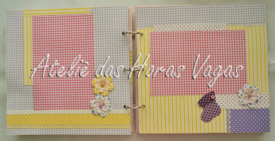 mini album scrapbook baby girl