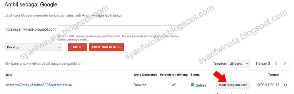 menambahkan sitemap blogspot di google webmaster tools